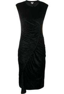 Kenzo Asymmetric Ruched Dress - Preto