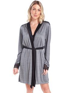 Robe Feminino Metalic Com Renda No Punho - Kanui