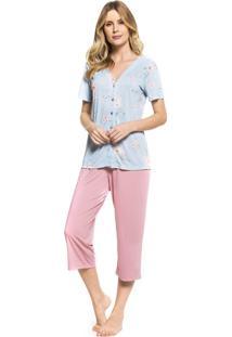 Pijama Inspirate Aberto Capri Floral
