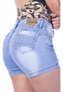 Shorts Jeans Curto Zigma Aline Azul - Tricae