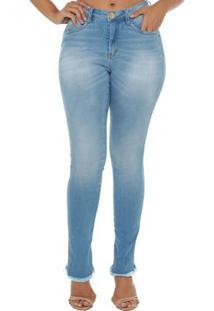 34741f467 R$ 79,90. Zattini Calça Jeans Denuncia Mid Rise Skinny Feminina - Feminino-Azul  Claro