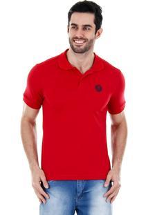 Camisa Polo Masculina Urbano - Vermelho
