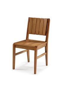 Cadeira Salvador Verniz Mel Encosto Ripado 43Cm - 60446 Preto