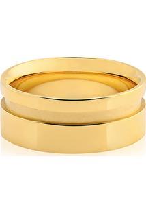 Aliança De Casamento Ouro Amarelo (8Mm)