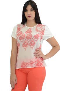 Blusa Energia Fashion Arabesco Rosa
