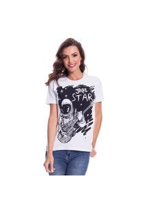 Camiseta Jazz Brasil Jazz Star Branco