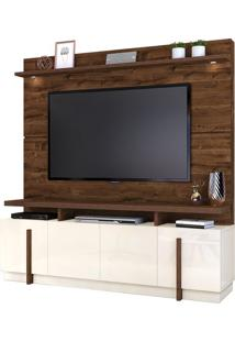 "Estante Home Para Tv Até 65"" Bari Rústico Malbec/Off White"