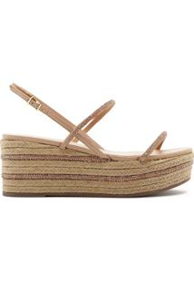 Sandália Flatform Natural Neutral | Schutz
