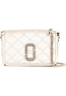 Marc Jacobs Snapshot Quilted Shoulder Bag - Prateado