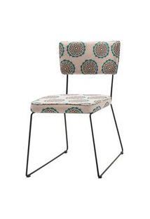 Cadeira Milan Estampa Cerc Base Preta - 55892 Preto
