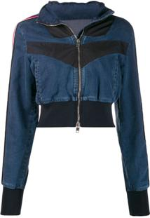 Diesel Joggjeans Denim Jacket With Inserts - Azul
