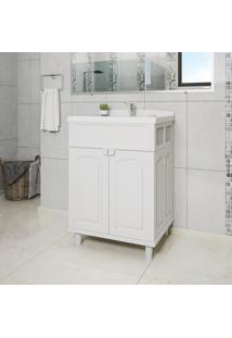 Gabinete Para Banheiro Astra Gab2-Br1 2 Portas Branco Com Lavatório