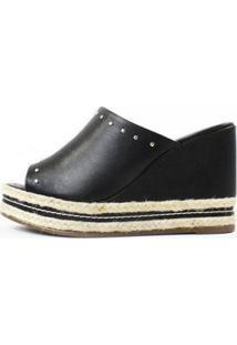 Tamanco Damannu Shoes Sophie Feminino - Feminino-Preto
