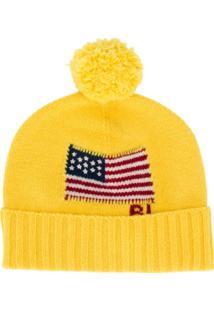 Polo Ralph Lauren Gorro Com Bandeira Americana - Amarelo