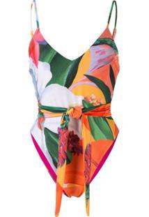 Mara Hoffman Gamela Tropical-Print Swimsuit - Estampado