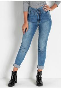 Calça Jogger Jeans Com Elástico Sawary