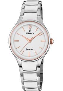 Relógio Festina Feminino Cerâmica Branca - F20474/2