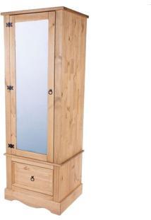 Armário Com Espelho - Madeira - Cor Antique - Cr525