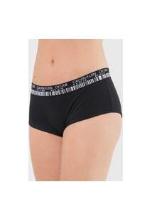 Calcinha Calvin Klein Underwear Boyshort Barcode Preta