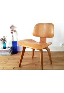 Cadeira Eames Dcw Castanho Opção De Madeira