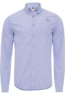 Camisa Masculina - Azul