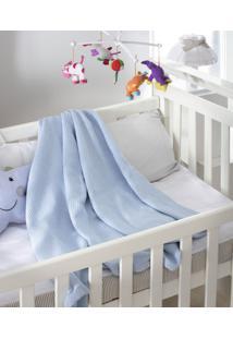 Cobertor Infantil Jolitex Algodão Premium Azul 0,80 X 0,90