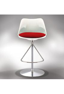 Cadeira Bar Giratória Saarinen Estofada Fibra De Vidro Design By Studio Clássica