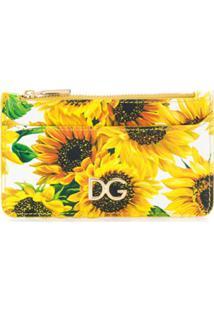 Dolce & Gabbana Carteira Com Estampa Floral - Branco