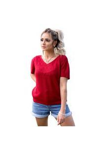 Blusa Tricot Eliane Feminina Shopping Do Tricô T-Shirt Túnica