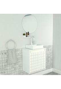 Conjunto De Banheiro Carol 2 Pt Branco 50 Cm