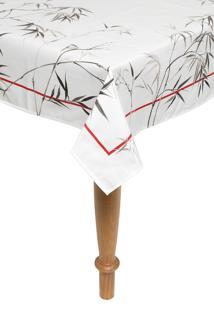 Toalha De Mesa Karsten Sempre Limpa Retangular Bamboo 160X220Cm Branco