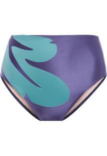 Calcinha Hot Pants Bordada - Azul