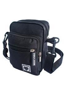 Shoulder Bag Bezz Mini Bolsa Tira Colo Necessaire Pochete Unisexx Preta