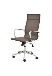 Cadeira Sevilha Eames Alta Cromada Tela Cafe - 38046 Café