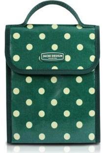 Bolsa Térmica Jacki Design De Plástico Flanelado - Feminino-Verde