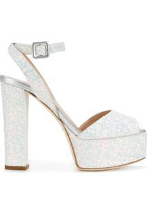 Giuseppe Zanotti Design Sandália Plataforma 'Betty Glitter' De Couro - Estampado