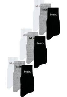 Kit/9 Meias Mash Masculino - Masculino