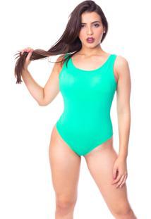 Body Moda Vicio Regata Com Bojo Decote Costas Com Elástico Verde Água - Kanui