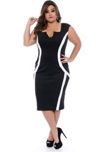 Vestido Recortes Plus Size