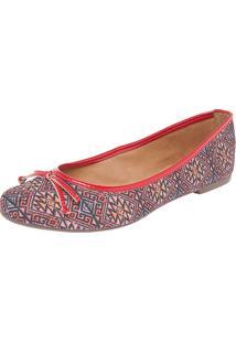 Sapatilha Dafiti Shoes Étnico Vermelho
