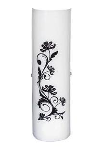 Arandela Attena Venus Grande Flores Para 2 Lâmpadas - Preto