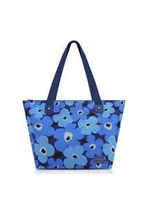 Bolsa Sacola Jacki Design Papoula Azul