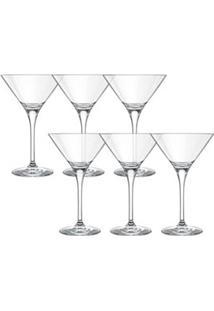 Conjunto De Taças Para Martini Excellence Em Cristal De 240Ml 6 Peças - Nadir