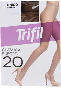 Meia Calça Trifil Fio 20 Europeu Feminina - Feminino-Marrom