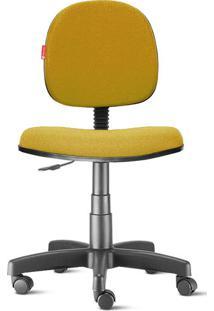 Cadeira Executiva Giratória Crepe Mostarda