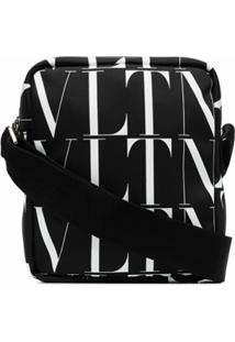Valentino Garavani Pochete Com Estampa De Logo Vltn - Preto