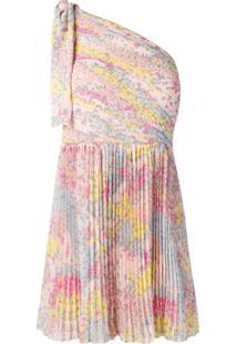 Redvalentino Vestido Com Estampa De Estrela - Rosa