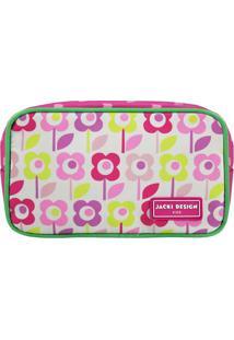 Nécessaire Floral- Pink & Rosa- 11X19X5Cm- Jackijacki Design