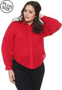 Camisa Fiya Lady Plus Recorte Vermelha
