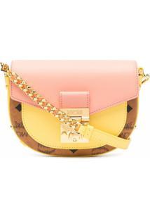 Mcm Patricia Leather Shoulder Bag - Amarelo